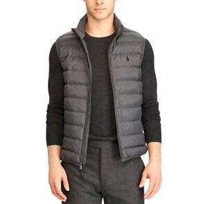 Polo Ralph Lauren Men's Down Pony Full Zip Packable Vest Grey Size XL New NWT ⭐️