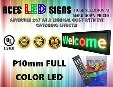 "LED SIGN 8"" x 40"" PROGRAMMABLE SCROLL MESSAGE BOARD FULL COLOR P10MM"