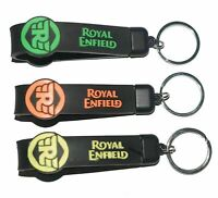Double Sided Silicone Rubber RE Logo Keychain 3 Unit For Royal Enfield