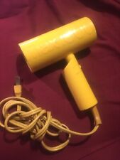 Vintage Gillette Max 1000 Hair Dryer - Working Condition - Yellow 80's