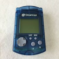 SEGA Dreamcast Clear Blue Visual Memory Unit VMU Japan HKT-7000 Controller
