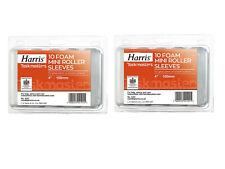 Paint Rollers Harris Foam Mini Paint Roller Covers Sleeves 100mm - 20 Pack