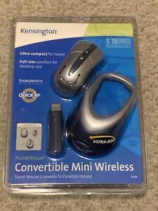 Kensington PocketMouse Convertible Mini Wireless Mouse (KMW72229) New Sealed