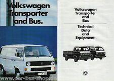 VW Bus T3 - Prospekt - Bus & Transporter - Englisch - August 1984