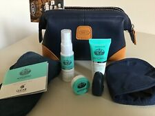 Bric's Amenity Kit-Toiletry Bag-Navy & Tan-Monte Vibiano Products- Qatar Airways