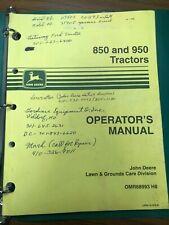 John Deere 850 and 950 Tractors Operator's Manual | Omr68993 H8
