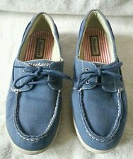 WOMEN'S SKECHERS BLUE TOP-SIDER CASUAL SHOES SIZE 10 (2 EYELET LACE)