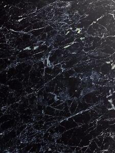 Black Marble Waterproof Splash Panel PVC Shower Wall Boards TWIN PACK 1m PVC