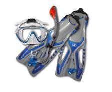 BodyGlove Childrens Kids Snorkel Flipper Set SILICONE RRP£32 Shoe Size 9-12 BLUE