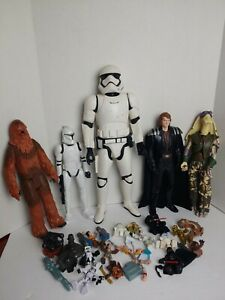 Star Wars Figures Lot - Chewbacca Stormtrooper Yoda and more