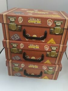 The Classic Carry On Film Collection VHS Suitcase Retro 90's (30 Films) #SH