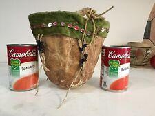 Antique Native American Bag Beaded Kiowa Scrotum Medicine Tobacco Authentic
