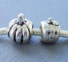 2pcs Halloween Pumpkins European Charms Beads Large hole Fit charm bracelet C100