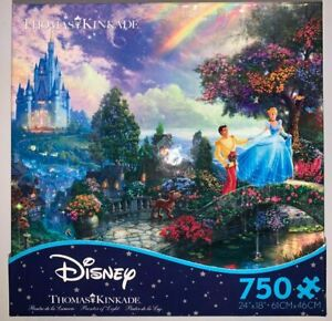 Disney Cinderella Wishes Upon a Dream Thomas Kinkade 750 pc Puzzle Princess