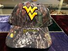 WEST VIRGINIA MOUNTAINEERS CAMO HAT NEW WITH TAGS  Mossy Oak CAMOUFLAGED NCAA