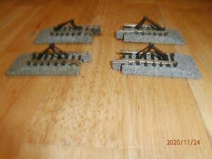 4-PIECES OF KATO N-SCALE UNITRACK-   STRAIGHT BUMPER TRACKS