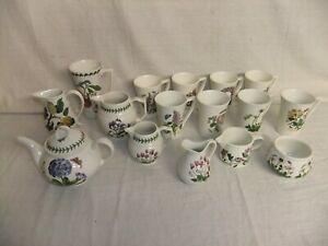c4 Pottery Portmeirion The Botanic Garden - mugs jugs teapot sugar bowl 4C5A