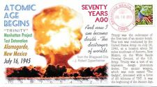 """COVERSCAPE computer designed 70th first Atom Bomb ""Trinity"" test event cover"