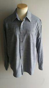 Wrangler Vintage Wash Long Sleeve Cotton Shirt Size M