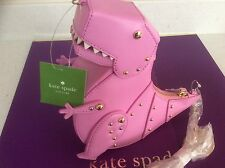 """NWT Kate Spade New York """"Whimsies"""" T. Rex Leather Crossbody Teatime Pink"""