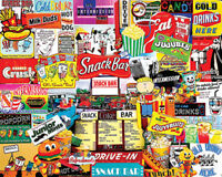 White Mountain Puzzles Snack Bar 1000 Piece Jigsaw Puzzle