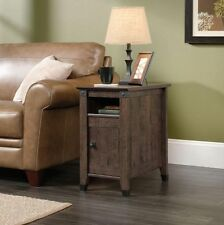 Sauder Carson Forge Collection Side Table, End Table in Coffee Oak Finish