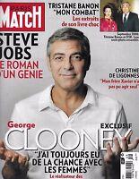 George Clooney Paris Match French Magazine Steve Jobs Tristane Banon Tintin 2011