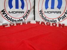 "DODGE Ram ""Power Wagon"" Tailgate nameplate emblem NEW OEM MOPAR"