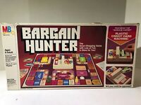 Vintage 1981 BARGAIN HUNTER Board Game By Milton Bradley MB Complete