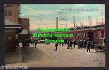 119229 AK Penna Railroad Station Charleroi Pennsylvania 1914 Bahnhof USA