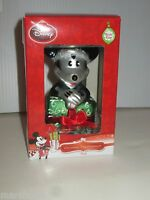 DISNEY HALLMARK MICKEY MOUSE WITH HOLIDAY GIFT BLOWN GLASS CHRISTMAS ORNAMENT