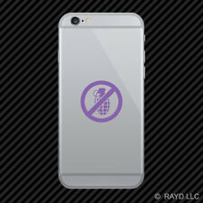 (2x) No Grenades Cell Phone Sticker Mobile #2 many colors