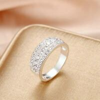 Wedding LAB Diamond Iced Out Bling 925 Sterling Silver Size 7 8 Men Women Ring