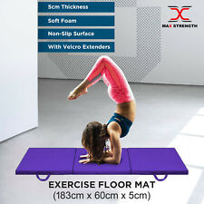 Tri Folding Gym Matts Thick Foam Floor Fitness Yoga Exercise Mat Phisyo Pilates