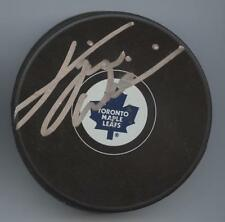 DAVE TIGER WILLIAMS SIGNED TORONTO MAPLE LEAFS HOCKEY PUCK w/ COA