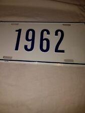 1962 vanity license plate BLUE