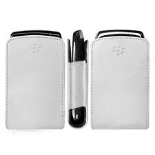 BLACKBERRY TORCH 9800 9810 OEM WHITE LEATHER SLIM POCKET POUCH CASE COVER SLEEVE