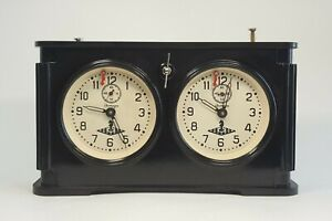 Legendary Russian Chess Tournament Mechanical Clock Timer made in USSR in 1954.