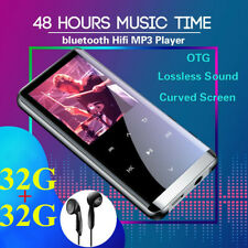 64GB bluetooth HiFi OLED Touch Mirror Screen Music MP3 MP4 Player Voice