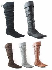 Botas de mujer sin marca de ante sintético