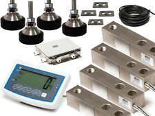 Floor Scale kit 12000kg*5 kg capacity with 4 load cells , Jn box and read out