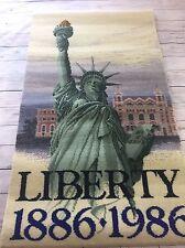 HTF 1986 Statue Of Liberty Ellis Island New York Memorabilia Commemorative Rug