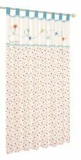 Forever friends by izziwotnot (Little Star) Lined Tab Top Curtain Pair - Blue