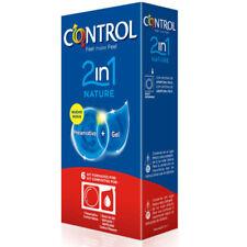 CONTROL DUO NATURA 2-1 PRESERVATIVO + GEL 6 p. - Classic