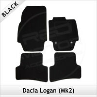 DACIA LOGAN Mk2 2012 onwards Tailored Carpet Car Floor Mats BLACK