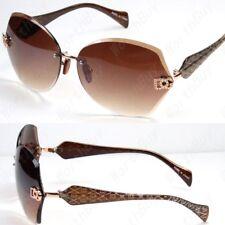 New DG Eyewear Womens Rimless Sunglasses Shades Designer Fashion Round Shield 33