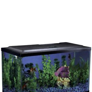 Aquarium Hood Fish Tank LED Lighting for 10-Gallon Aquariums and Terrariums