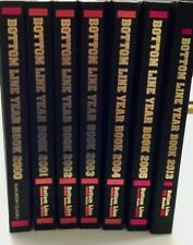 Lot of 7 -Bottom Line Year Book Hard Cover - Years 2000 thru 2005, and 2013