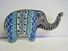 "ABRAHAM PALATNIK MCM VTG MODERN LUCITE ELEPHANT FIGURINE 2""X4"" BRAZIL BLUE LACE"