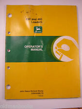 JOHN DEERE 430 460 LOADERS  OPERATOR'S MANUAL OM W44980 F8